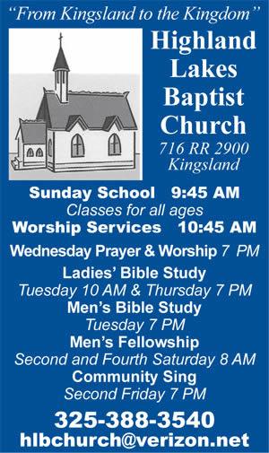 Highland Lakes Baptist Church - VFW Post 10376